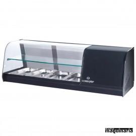 Vitrina de tapas frías 2 pisos 4 bandejas GN1/3 CLVRGI2P4B