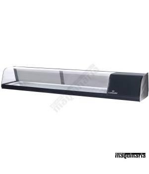 Vitrina con 1 pisos 8 platos para tapas frías CLVRGI1P8P