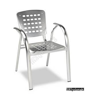 Sillón aluminio anodizado Terraza 2R93