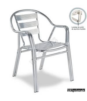 Silla Aluminio Terraza 2r94 Apilable Para Exteriores De Hosteleria