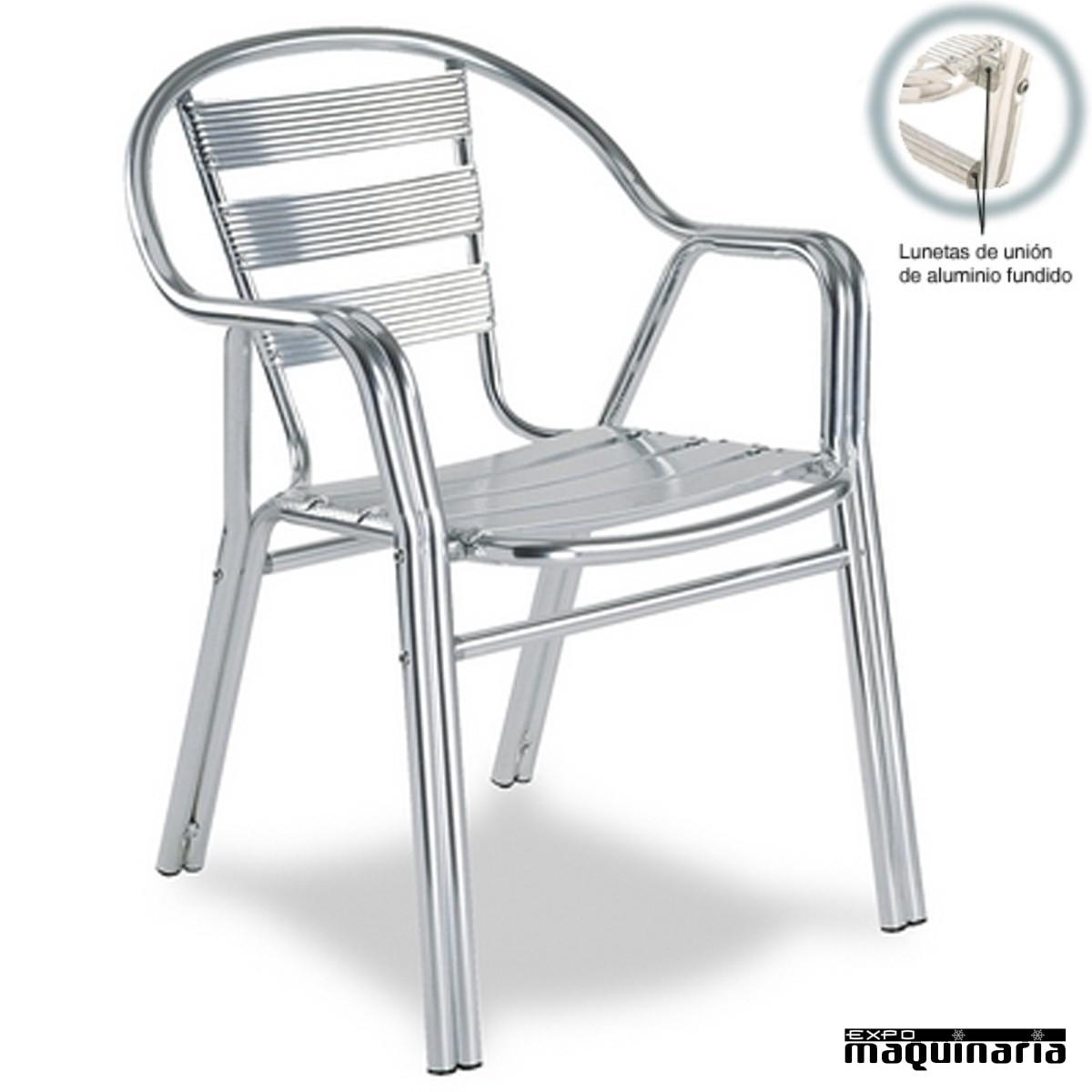 mesas y sillas de terraza de bar de aluminio