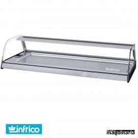 Vitrina placa fría 6 platos INVEB6CC cristal curvo