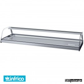 Vitrina barra tapas frías 9 platos INVEB9CC cristal curvo