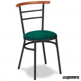 Silla Bar asiento tapizado 1R02TAP