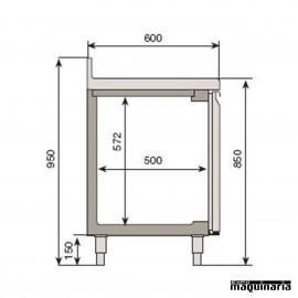 Mesa refrigerada (245.2 x 60.0 cm) BMPP 2500 II