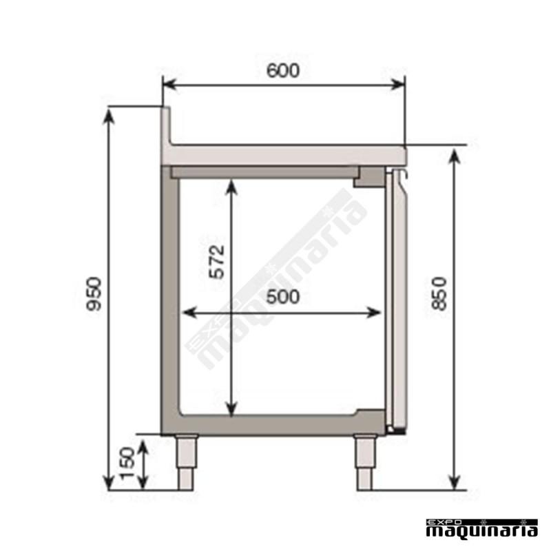 Mesa refrigeradora para cocina industrial bmpp 2500 ii for Puerta cocina industrial