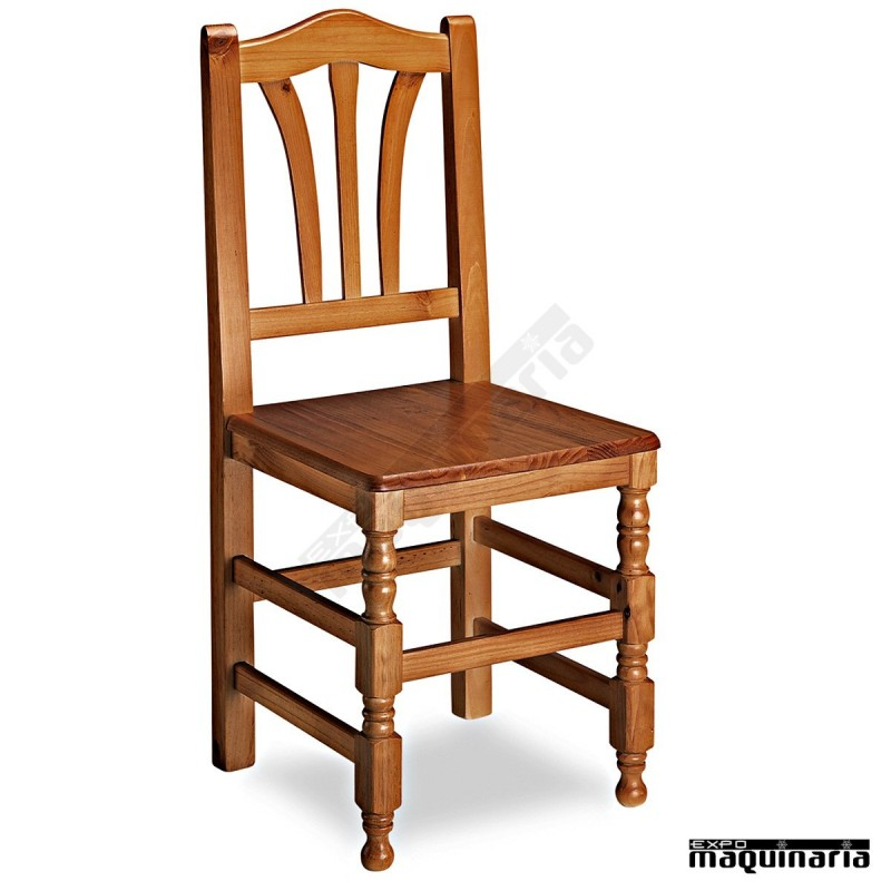 Sillas de madera rusticas sillas entintadas barnizadas o for Sillas de comedor de madera