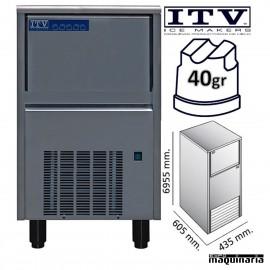 Maquina de hielo ITV ORION40 (ECO) cubito 40g