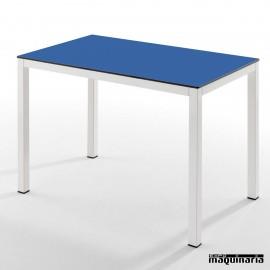 Mesa rectangular acero ISFARGOR