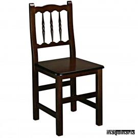 Silla madera 1R0M asiento madra