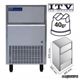 Maquina de Hielo ITV ORION80 (ECO) cubito 40g