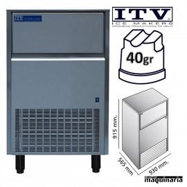 Maquina de Hielo ITV ORION130 (ECO) cubito 40g