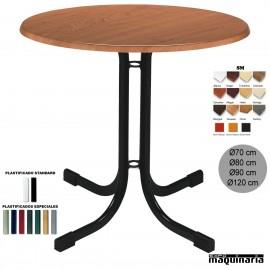 Mesa bar restaurante y hostelería 3R19SM redonda