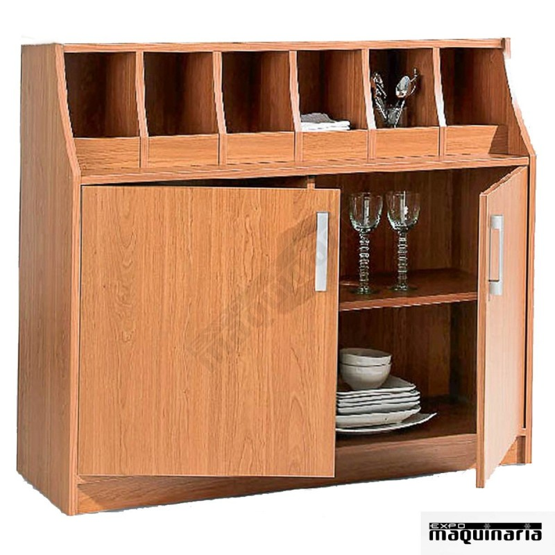 Mueble bajo restaurante cubertero melamina gv7030b for Mobiliario para bares y restaurantes