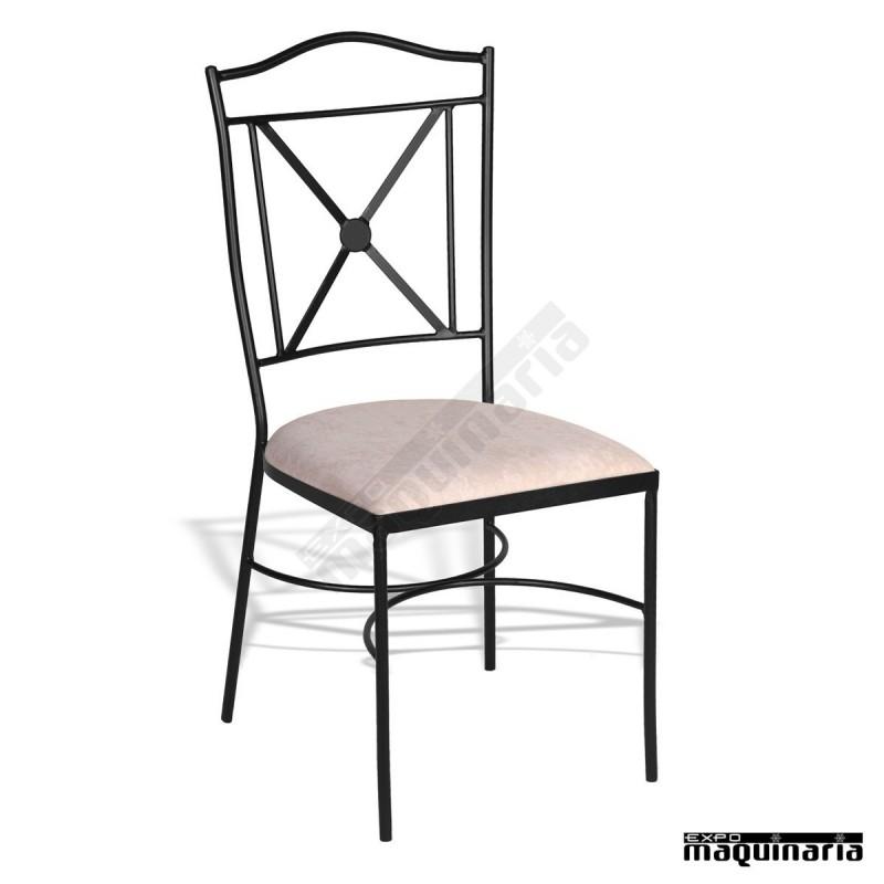 silla forja terraza s600 apilable para hosteler a