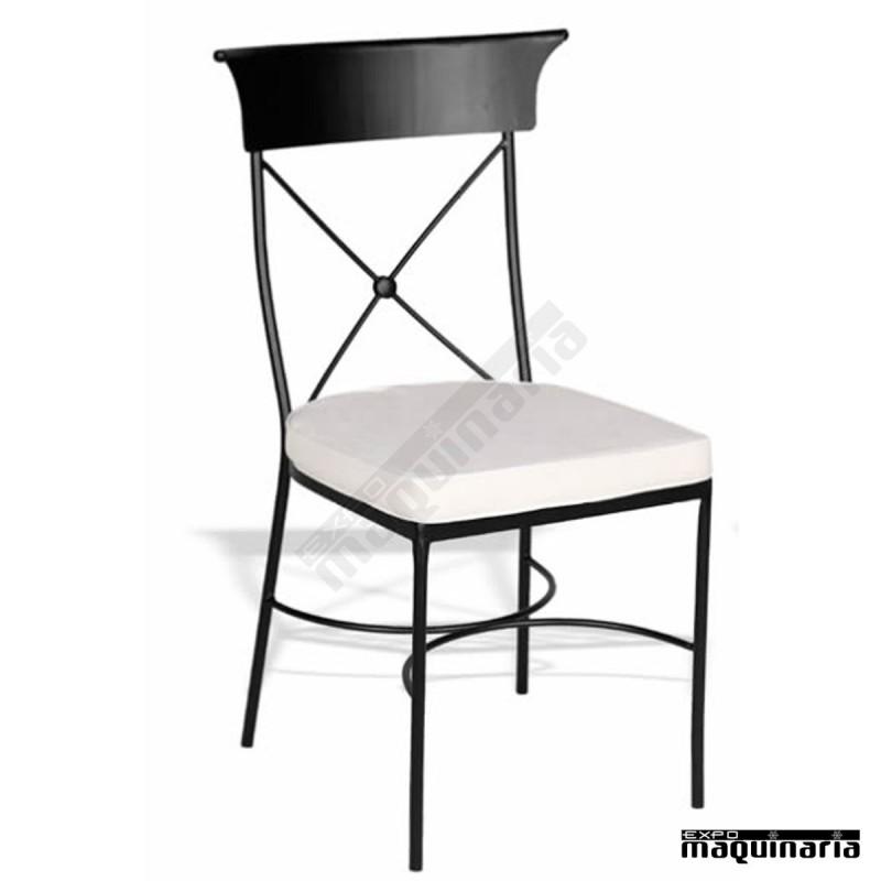Silla de forja jas 705 incluido cojin asiento trenzado - Sillas de forja para comedor ...