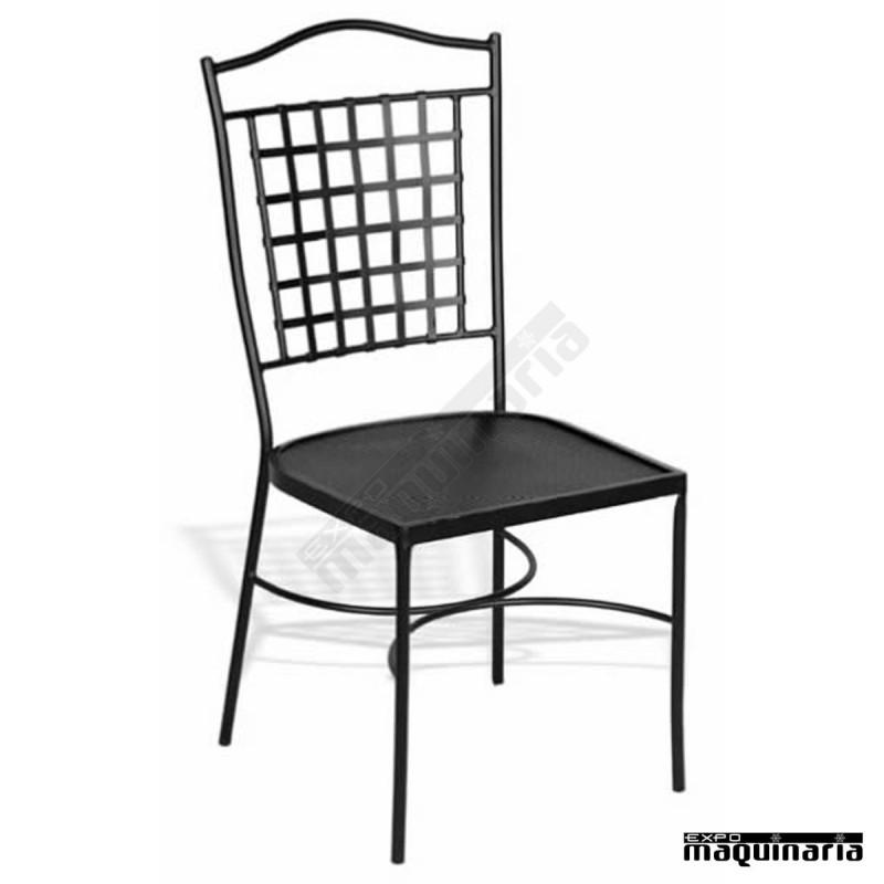 Silla de hierro o forja jas 802 con asiento plancha de hierro - Sillas de forja baratas ...