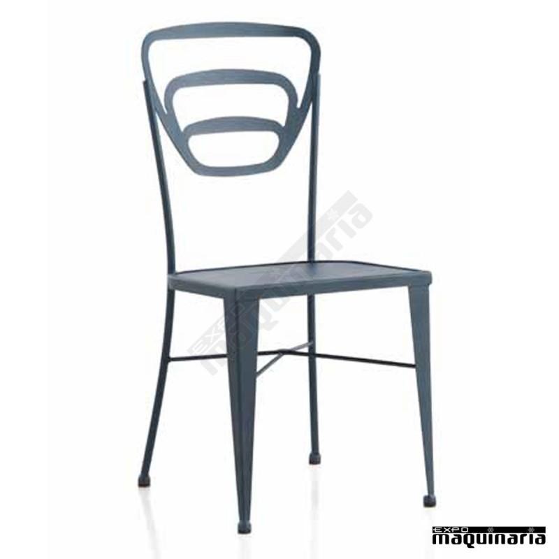 Silla de forja jas314 asiento met lico apilable - Mobiliario de forja ...
