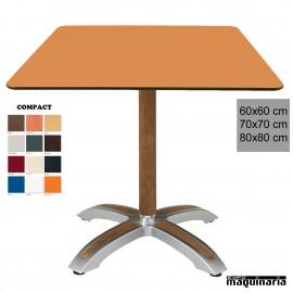 Mesa terraza 4R07COC cuadrada compact y teka