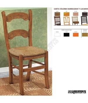 Silla vintage asiento enea CHCARACOLAE