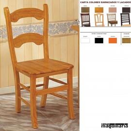 Silla asiento madera hostelería CHCARACOLM