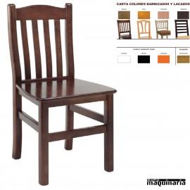 Silla hostelería asiento madera CHTENERIFE
