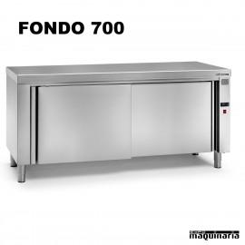 Mesa caliente central inox fondo 700