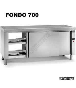 Mesa caliente central pasante fondo 700