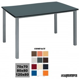 Mesa terraza 4R12CO aluminio apilable