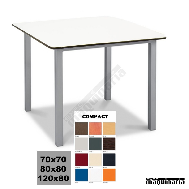 Mesa Terraza 4r12co Aluminio Apilable Aluminio Plastificado