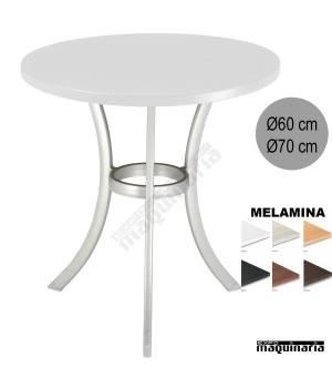 Mesa aluminio hostelería 4R35MEAL redonda