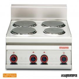 Cocina sobremesa eléctrica 4 fuegos fondo 65 MHPC6ET