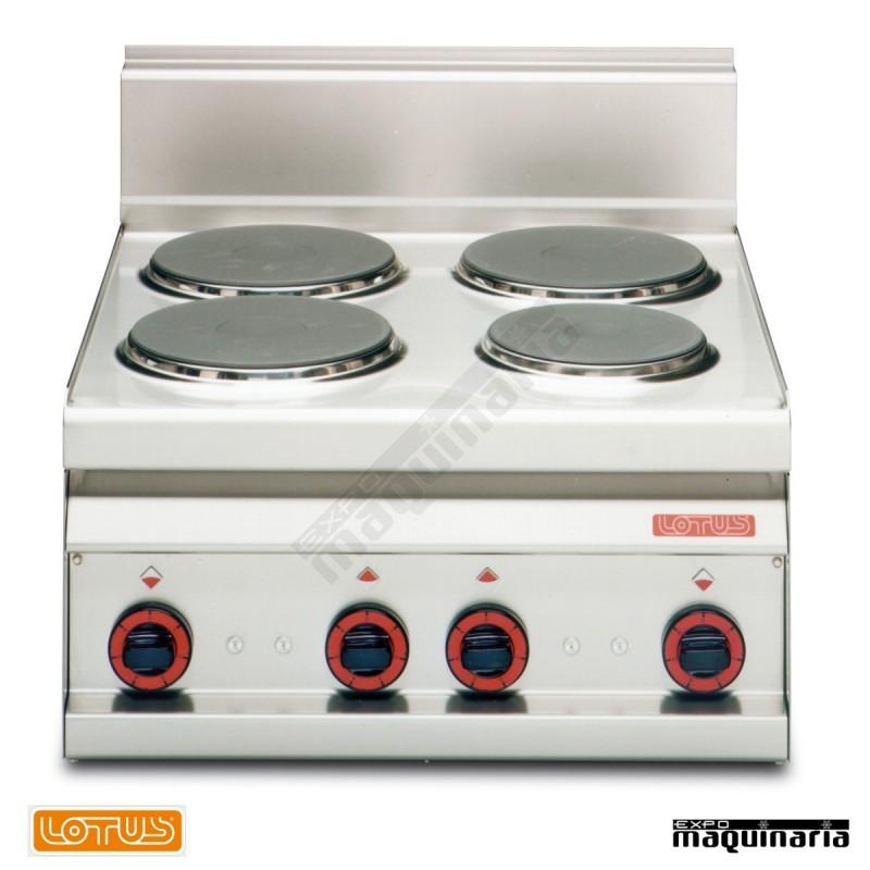 Cocina sobremesa el ctrica 4 fuegos fondo 65 mhpc6et for Cocina 3 fuegos sobremesa