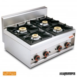 Cocina sobremesa de gas 4 quemadores fondo 65 MHPC8G