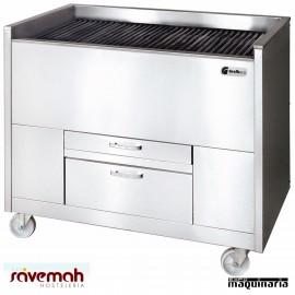 Barbacoa carbón vegetal SVCAVE600100