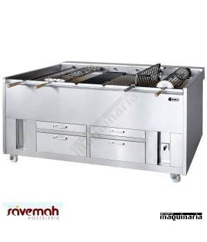 Asador carbón vegetal rotativo SVCCVR1650S
