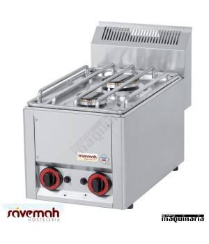 Cocina gas 2 fuegos fondo 60 SVCG2F