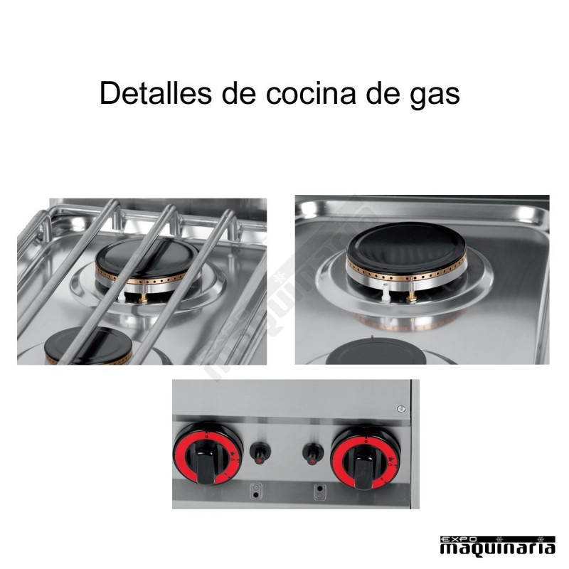 Cocina gas 4 fuegos fondo 60 svcg4f for Cocina 4 fuegos industrial