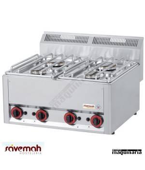 Cocina gas 4 fuegos fondo 60 SVCG4F