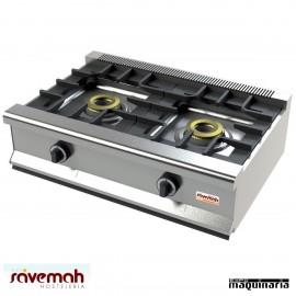 Cocina gas sobremesa 2 fuegos SVCM552S