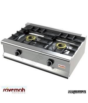 Cocina gas sobremesa 2 fuegos SVCM552S estructura de acero inoxidable