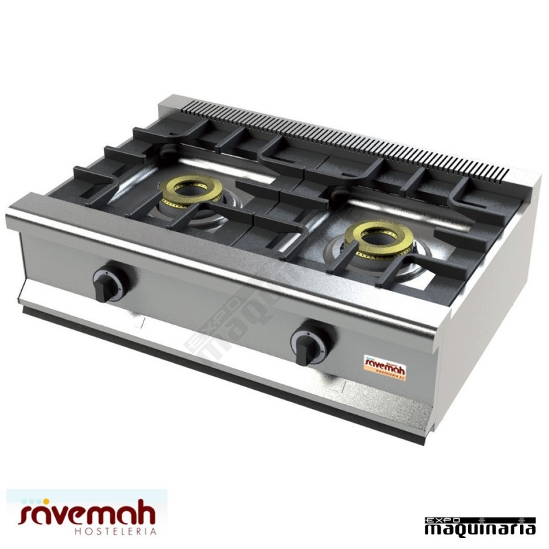 cocina gas sobremesa 2 fuegos svcm552s estructura de acero