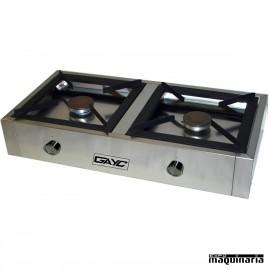 Fogón portátil sobremesa DAF80 2 fuegos