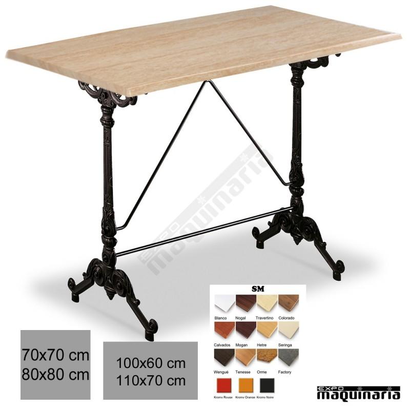 Mesa bar restaurante hosteler a 3r30sm armaz n de aluminio - Mesas para hosteleria ...