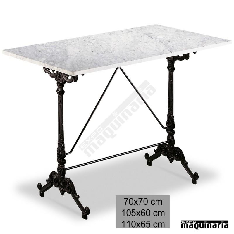 Mesa de m rmol 3r30ma para bares con armaz n de aluminio - Pies de mesa de marmol ...
