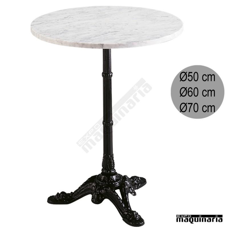 Mesa de m rmol cafeter a 3r32ma armaz n aluminio fundido for Marmol para mesa