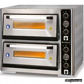 Horno pizza eléctrico 2 pizzas de Ø40 cm CLH24040DE4