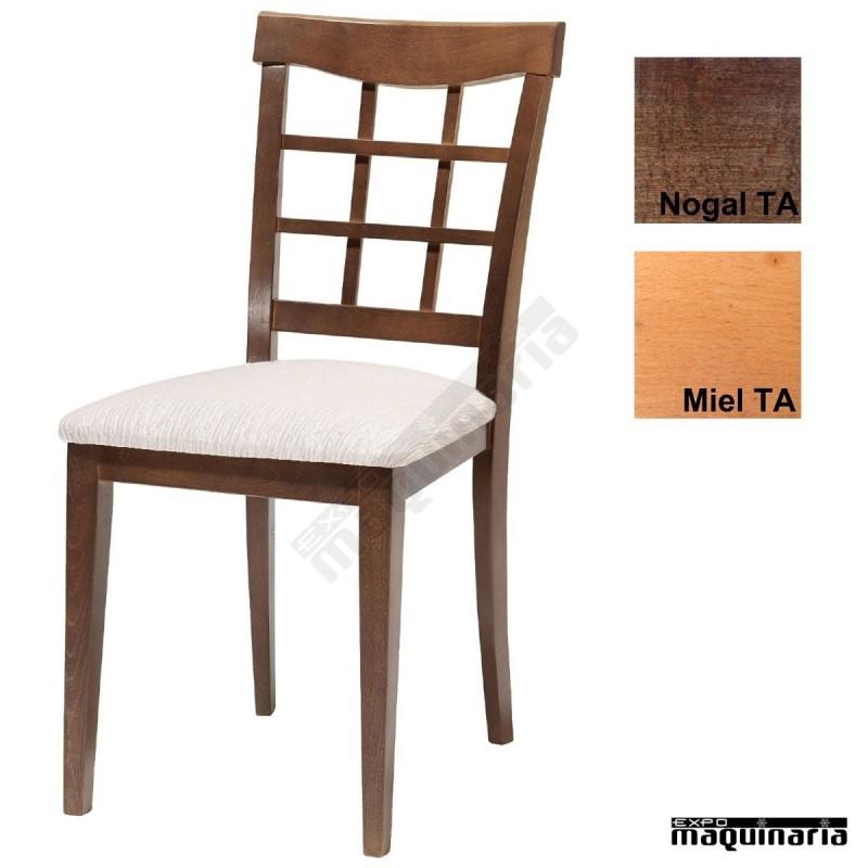 Silla tapizada de madera 1t230 para hosteler a for Sillas de madera para bar