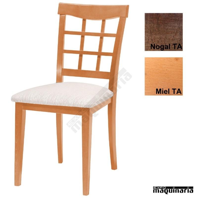 Silla tapizada de madera 1t230 para hosteler a for Sillas madera baratas