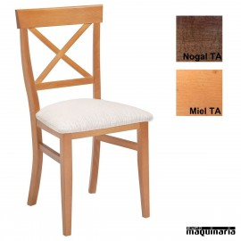Sillas madera para bares tapizada 1T150